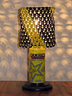 Rockstar Energy Can Lamp With Black and Yellow by LicenseToCraft, $40.00