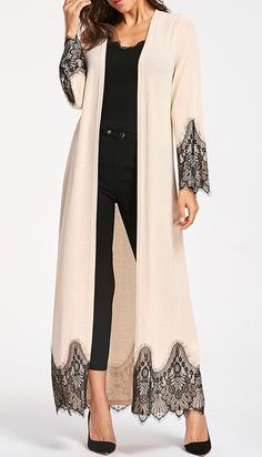 Womens Fashion Tops Outerwear Casual Coats Fashion Long Wool Coat Eyelash Lace Trim Longline Outwear - - Womens Fashion Tops Outerwear Casual Coats Fashion Long Wool Coat Eyelash Lace Trim Longline Outwear Source by Abaya Fashion, Modest Fashion, Fashion Outfits, Womens Fashion, Fashion Trends, 20s Fashion, Mode Abaya, Mode Hijab, Stylish Clothes