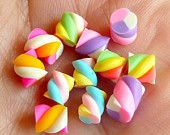 Miniature Marshmallow Mix (Colorful) (12pcs) Kawaii Fake Candy Polymer Clay Fimo Miniature Sweets Dollhouse Candy Cabochon CMX004