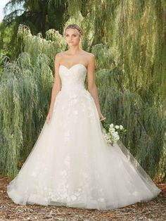Morning Glory has a fitted, flattering sweetheart neckline bodice that flows into a full ball gown skirt. Scatters of butterfly lace and a horsehair trim add a ...