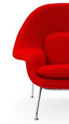Via Office Designs | Eero Saarinen Womb Chair KNOLL  http://decdesignecasa.blogspot.it/