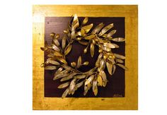 Golden olive wall decor  Wreathbranches  Unique  $265.00 by Maria Driva