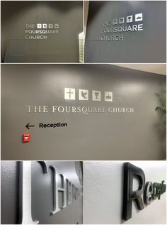 Brushed aluminum dimensional letters are perfect for logo signs because they look great with almost any interior.  #signage #logosigns #signdesign #thefoursquarechurch #churchsigns #interiorsigns #interiorlogosigns #signs #lobbysigns #resource4signs #signcompany #chatsworthsigncompany #losangelessigncompany #dimensionallettersigns #metalsigns #acrylicsigns #signshop #internationalchurchofthefoursquaregospel #metalletters #acrylicletters #signmakers #signmanufacturer #signdesign #customsigns Exhibition Booth Design, Exhibition Stands, Exhibit Design, Print Advertising, Print Ads, Advertising Campaign, Acrylic Letters, Metal Letters, Street Marketing
