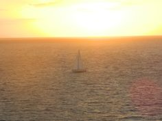 Sun setting over Atlantic Ocean from Celebrity Equinox