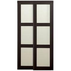 ReliaBilt 72 In X 80 1/2 In Espresso 3 Lite Interior Sliding Door