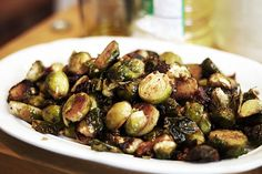 Brussels Sprouts have a lot of health benefits but don't taste so great. I might be a new fan with this yummy recipe!