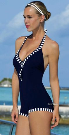 2017 Women One-Piece Boxer Swimsuit Beachwear Swimwear push up monokini bathing suit Plus Size for woman sports clothing - Style - Date Outfits, Summer Outfits, Cute Swimsuits, Fashion Mode, Lingerie, Bathing Beauties, One Piece For Women, Swimwear Fashion, Summer Wear