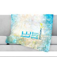 KESS InHouse Life Is Art Throw Blanket Size: