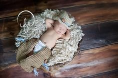 Baby Boy Cowboy Chaps and Cowboy Hat by Crittercakesandknits, $52.50