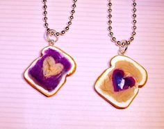 Kinda silly but cute for little kids. Peanut Butter and Jelly Best Friend Necklaces.