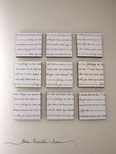 Love it! Custom Lyrics Cardstock. $20.00, via Etsy.