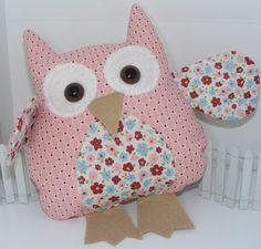 Owl Pillow Made using Stampin' Up fabrics