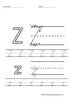 Free letter Z alphabet printable activities: coloring pages, color posters, handwriting worksheets and more, suitable for preschool and early elementary. Free Printable Worksheets, Alphabet Worksheets, Kindergarten Worksheets, Printables, Abc Printable, Alphabet Tracing, Handwriting Worksheets, Tracing Worksheets, Alphabet Activities