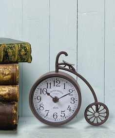 "Look at this 6"" Bicycle Clock on #zulily today!"