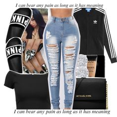 A fashion look from December 2017 featuring Alice + Olivia tops, adidas jackets and !iT Collective jeans. Browse and shop related looks.