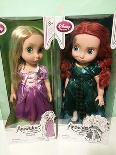Rapunzel and merida dolls