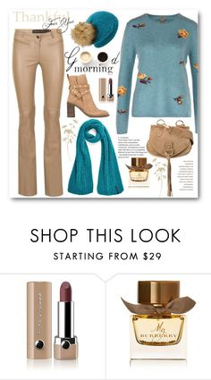 """""""Winter sweater & scarf"""" by sundango ❤ liked on Polyvore featuring Marc Jacobs, Burberry and LULUS"""