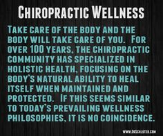 #Chiropractic isn't just about pain, it's about your nervous system functioning properly, allowing your body to work.  www.carechirotn.com - 931-647-7677