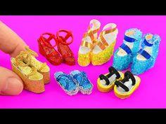 10 DIY Barbie Shoes & Boots & Sandals ~ Como hacer ZAPATOS para MUÑECAS Barbie - YouTube