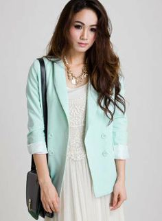 What To Wear With A Mint Green Blazer | Fashion Inspiration Blog