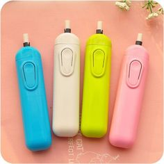 Papelaria Battery Operated Eraser Electric Automatic School Supplies Leather Stationery Child Day Gift Material Escolar