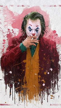 Joaquin phoenix - Joker Splash Art by Mayank Kumarr. Der Joker, Joker Heath, Joker Dc, Joker And Harley Quinn, Batman Joker Wallpaper, Joker Iphone Wallpaper, Joker Wallpapers, Iphone Wallpapers, Iphone Backgrounds