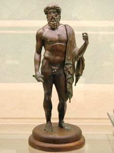 Jupiter (Zeus), Roman statuette (bronze), 1st century BC - 3rd century AD, (Museo Archeologico Nazionale, Florence).