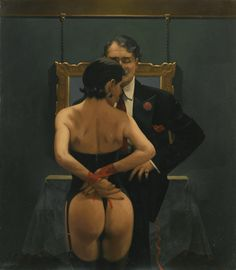 ce-sac-contient:  Jack Vettriano - Scarlet Ribbons, Lovely Ribbons, 1999 Oil on canvas (80.5 x 70.5 cm)