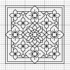 Resultado de imagem para blackwork embroidery patterns
