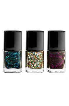 Sparkle Mini nail polish set by Deborah Lippmann (with Across the Universe, Happy Birthday, and Bad Romance colors) - $30.00