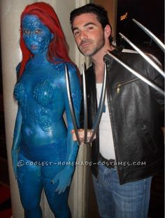 Hard Core X-Men's Mystique Costume... This website is the Pinterest of costumes