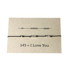 I Love You 143 Cord Bracelet - Black - here is where you can find that Perfect Gift for Friends and Family Members