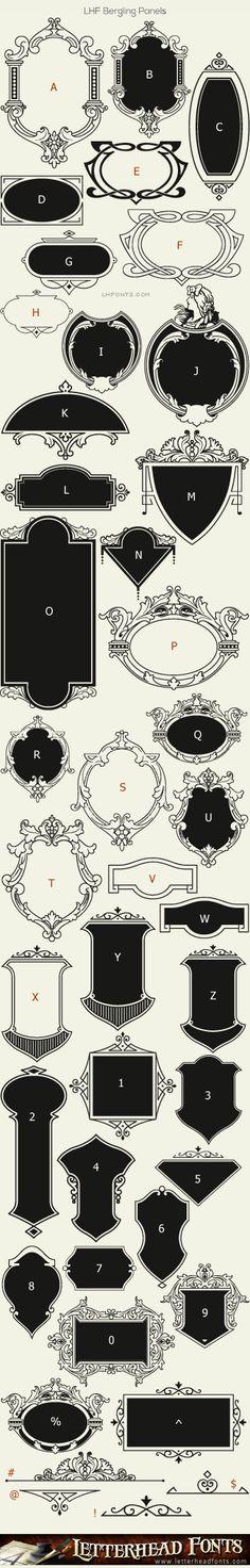 Letterhead Fonts / LHF Bergling Panels font / Old Fashioned Panels
