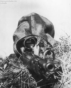 Wehrmacht sniper armed with Karabiner 98k