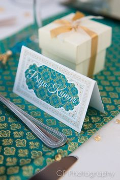 Personalised guests table names, so your guests can be seated in style.  Available in any colour to match your Asian wedding or celebration.  By www.fuschiadesigns.co.uk