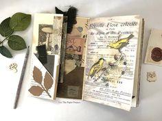 Botanical Junk Journal / Folio - DT for On A Whimsical Adventure - Ephem...