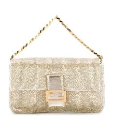 Fendi Gold Micro Bag  Fendi Gold Micro Baguette Clutch
