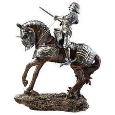 Design Toscano Silver Knight Of Blenheim Palace Sculpture