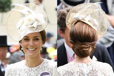 Perfectly striking the balance between fashionable and formal, the mum-of-two's hair was braided back into a knotted low bun with extra volume at the crown.