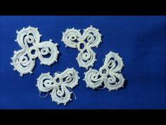 Irish Crochet Lace Shamrock over cord