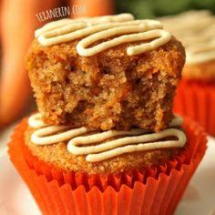 Healthier Carrot Cake Cupcakes Grain-Free Gluten-Free Dairy-Free