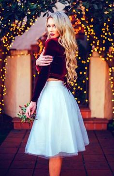 Simple White Tulle Skirts Women Knee Length Skirt Classic Style Skirt For Every simple Three Tulle Layers and One Lining – Dress Holiday Outfits Christmas Casual, Holiday Outfits Women, Summer Outfits For Teens, Holiday Fashion, Christmas Dresses, Christmas Games, Christmas Recipes, Diy Christmas, Christmas Ornaments