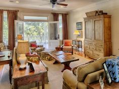 Those doors open to the water view and breezes. I swoon. 52 Grimball Point Savannah GA For Sale (7)