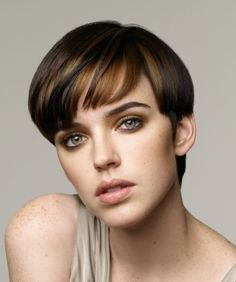 A short brown straight coloured page boy hairstyle by Revlon Professional