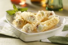 Cannoli gets a unique filling with this recipe for Mashed Potato Stuffed Cannoli. An appetizer sure to get your guests talking. Get recipe here: http://idahoan.com/recipes/mashed-potato-stuffed-cannoli/