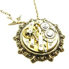 Watch workings necklace