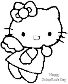 Free Hello Kitty Valentine Colouring Pages For Kids Boys 9543