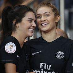 Kendall Jenner And Gigi Hadid Trade Couture For Jerseys At Paris Soccer Match - http://oceanup.com/2015/10/05/kendall-jenner-and-gigi-hadid-trade-couture-for-jerseys-at-paris-soccer-match/