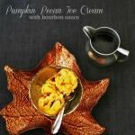 Wrapping Summer up in the flavors of Autumn...Pumpkin Ice Cream