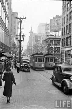 Formerly one of the best trolly systems in America - circa 1938.